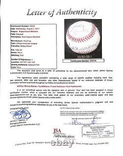 Triple Crown Winners Signed Baseball Mickey Mantle Ted Williams Yaz Robinson Uda
