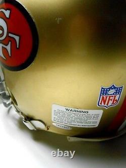 UDA Holo JSA Joe Montana Full Sized Signed Autographed FS Football Helmet 49ers