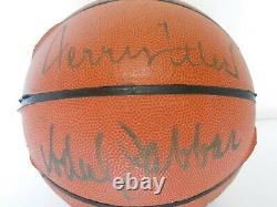 UDA Jerry West Kareem & Abdul Jabbar Autographed Signed Basketball LA Lakers HOF