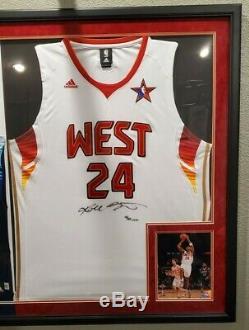 UDA Kobe Bryant Lebron James signed Allstar Jersey Auto Autograph Upper Deck LE