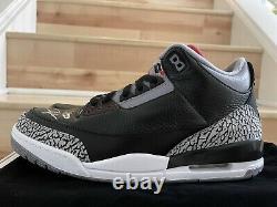 UDA Michael Jordan SIGNED AUTO DS Nike Air Jordan 3 Black Cement 3/23 HOF 2009