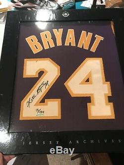 UDA Upper Deck Autographed Kobe Bryant Purple Lakers Jersey Archives #13/124