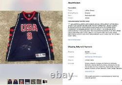 Uda Lebron James Auto Signed USA Olympic Jersey Upper Deck