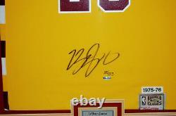 VERY RARE Lebron James Cavs Throwback Jersey Signed & Custom Framed! UDA LE /123