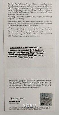 Vintage Ken Griffey Jr and Sr Dual Signed 16x20 Photo #109/300 Upper Deck UDA