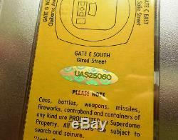 1982 Ncaa Final Four Ticket Automatique. Par Michael Jordan Uda Cert N 1er Psa, Danse