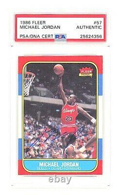 1986 Fleer Michael Jordan Signed Auto #57 Rc Uda Psa/dna Authentic Rare Cjh