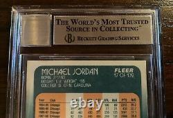 1988-89 Fleer #17 Michael Jordan Carte Autographiée Beckett Upper Deck Uda Auto