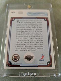 1990-91 Upper Deck #545 Wayne Gretzky Uda Certifié Auto #1530/2000
