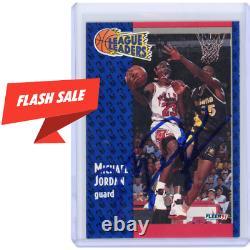 1991 Fleer #220 Michael Jordan Autographié Sur Card Auto! Beckett Pont Supérieur Uda