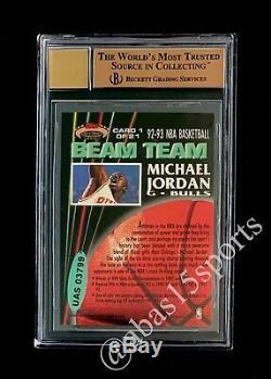 1992 Stadium Club De Michael Jordan Poutre Équipe Bgs 9.5 Signé Upper Deck Uda Auto 10