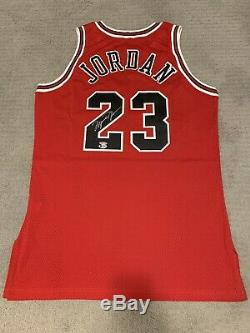 1996-1997 Champion Pro Cut Red Bulls De Michael Jordan Jersey Auto Autograph Uda