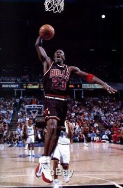 1996-1997 Nba @ 50 Michael Jordan Bulls Cut Pro Pinstripe Jersey Signé Uda Auto Pe