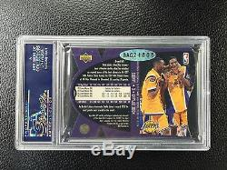 1997 Upper Deck Spx Kobe Bryant Auto Rookie Card 10 Signé Rc Psa Rachats Uda
