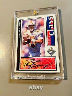 1998 Peyton Manning Upper Deck Rookie Auto Uda Choice Sp 1/1 Autographe