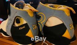 1/1 Échantillons Iverson Pépites Utilisé Chaussures Pe Psa Jersey Signé Uda Pont Supérieur Jordan