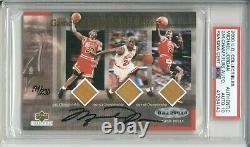 2000 Uda Michael Jordan Game Championship Floors Signé Psa Dna 10 Auto /230 Hof