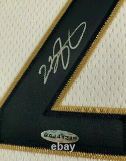 2003-04 Autographié Et Encadrée Lebron Authentique Rookie Cavs Jersey Uda Coa