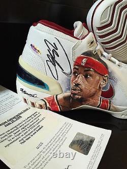 2003-04 Lebron James A Signé Nike Rookie Shoes Uda Autograph Pe Upper Deck 1 Of 1