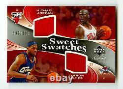 2006-07 Michael Jordan Lebron James Jeu Utilisé Dual Patch /199 Sweet Shot Ud Ud