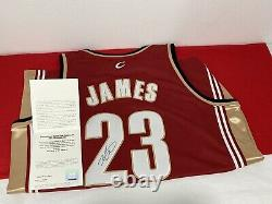 2007 Lebron James #23 Uda Super Deck Authenticated Signé New Cavaliers Jersey