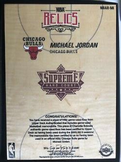 2016-17 Michael Jordan Uda Cour Suprême Quad Dur Jeu Floor / Reliques Bulls