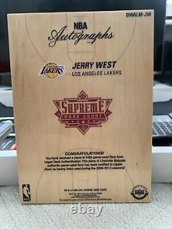 2017-18 Uda Supreme Hard Court Jerry West Auto Black And White Logo Man Sp #/44