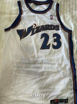 3 Michael Jordan Uda Signed Jerseys (set Of 3) Bulls Wizards Tar Heels