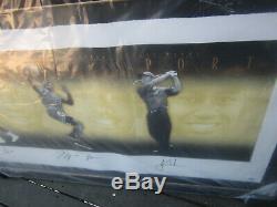 Ali Michael Jordan Muhammad Tiger Woods Autograph Photo Encadrée # 15 # 500 Uda