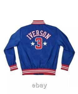 Allen Iverson A Signé Auto Stadium Jacket La Réponse Racines De Combat #4/20 Uda