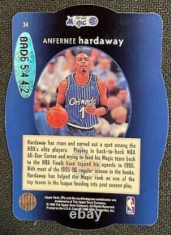 Anfernee Hardaway 1996 Spx Holoview Die Cut Autographe Avec Uda Rare Auto