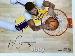 Anthony Davis Signé 24x16 La Lakers Photo Autographiée Le100 Upper Deck Uda Coa