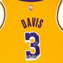 Anthony Davis Signé Autographié Nike Swingman Jersey Lakers Gold Home Uda