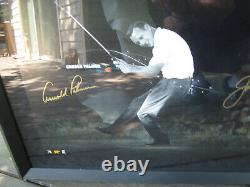 Arnold Palmer Jack Nicklaus Tiger Woods Autograph Framed Photo #70 De #250 Uda