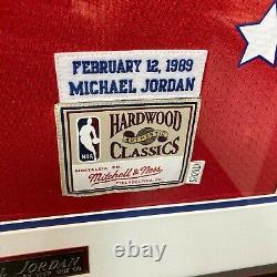 Beautiful Michael Jordan Signé 1989 All Star Game Jersey Upper Deck Uda Coa