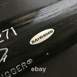 Belle Ken Griffey Jr. Signé Modèle De Jeu Batte De Baseball Avec Uda Upper Deck Coa