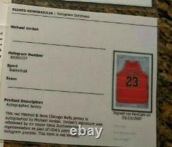 Belle Michael Jordan Bulls 97-98 Mitchell Ness Signé Jersey Upper Deck Uda