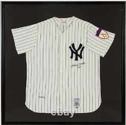 Belle Mickey Mantle N ° 7 Signé New York Yankees Jersey Uda Upper Deck Coa