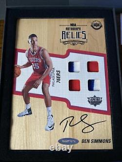 Ben Simmons 2016-17 Upper Deck Supreme Auto Relics 76ers Rc Rpa Rookie Year Uda