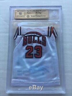 Bgs 9,5 Michael Jordan 2007/08 Ultra Se Mini Jersey Auto Uda Chicago Bulls