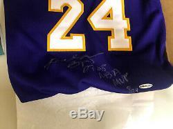 Bryant Signé Lakers Kobe Mvp Jersey Uda Limitée À 9/124