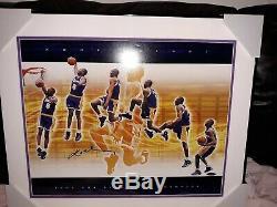Bryant Signe Multi Kobe Exposition 1997 Nba Slam Dunk Vainqueurs 20 X 24 Encadré Uda
