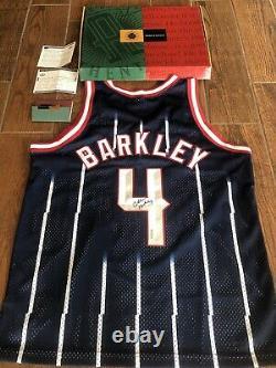 Charles Barkley Autographié Uda Rockets Jersey Signé Upper Deck Coa Authentic