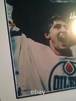 Deck Supérieur Uda Wayne Gretzky Signé Encadré 16 X 20 Photo Limitée # 52 De 250 Ai