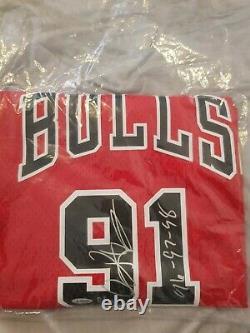 Dennis Rodman A Signé Uda Red Bulls Jersey Limitée 25 Coa Automatique The Last Dance