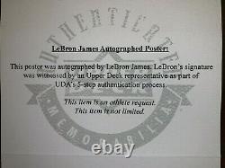 Énorme Lebron James Uda Auto Encadré Sprite Promo Poster 37x27 Over 3 Feet Tall