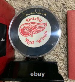 Gordie Howe Dédicacé Signé Detroit Red Wings Officiel NHL Hockey Puck Uda