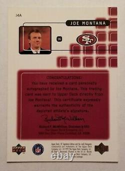 Joe Montana 1999 Upper Deck Sp Signature Edition Autographe Auto 49ers Ud Uda J4a
