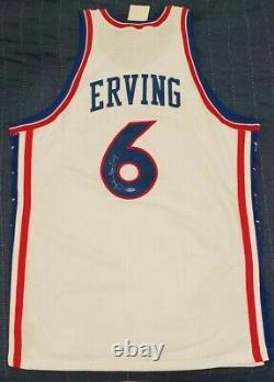 Julius Dr. J Erving Mitchell & Ness 1976-77 (uda) Super Deck Autograph Jersey