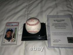 Ken Griffey Jr. Uda Limited Autographed Baseball 449/500. Plus Psa 9 Rookie